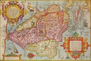 Map of Peru, c1599 by Arnoldus Florentius