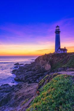 Beautiful Blues and Deep Purples of Sundown and Dusk Falling by Aron Cooperman