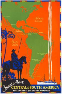 Around and About Central and South America Travel Poster