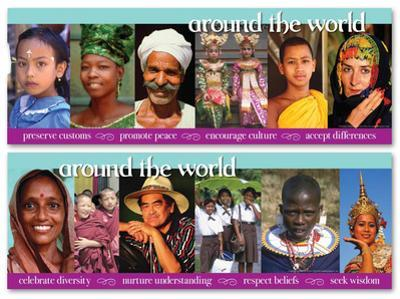 Around the World Educational Laminated Poster Set