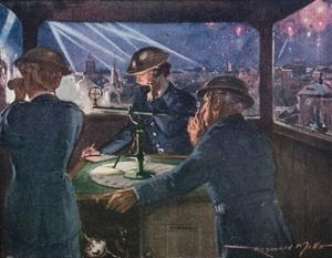 Arp Officers in an Observation Post During the Blitz Reporting on Fires Probably Caused by Bombs