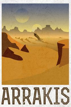 Arrakis Retro Travel Plastic Sign