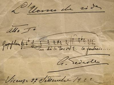 Autograph Music Score of Man Who Laughs, Act I, 1922