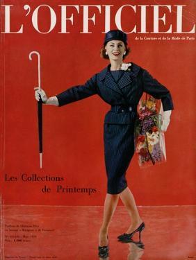 L'Officiel, March 1959 - Tailleur de Christian Dior en Lainage Matignon de Dormeuil by Arsac