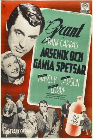 Arsenic and Old Lace, Swedish Movie Poster, 1944