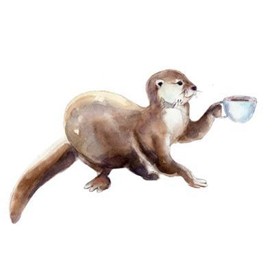 Otter with Cup of Coffee by arsvik