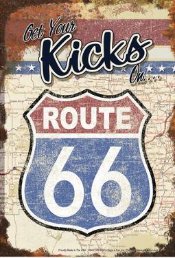 66 Get Your Kicks Map by Art Alvarez
