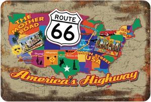 66 Map America's Hwy by Art Alvarez