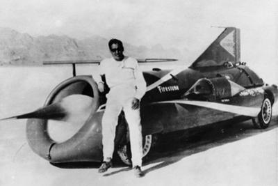Art Arfons with 'Green Monster' Land Speed Record Car, C1966