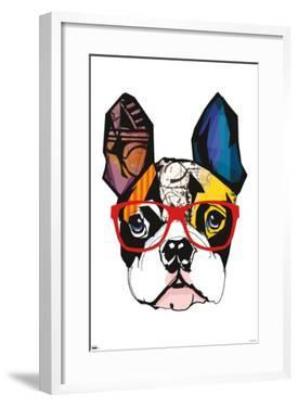 Art Deco - Boston Terrier with Glasses