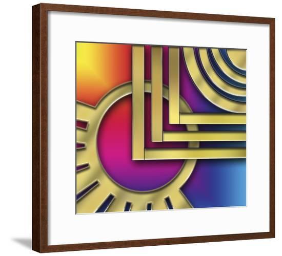 Art Deco Design 24A-Art Deco Designs-Framed Giclee Print