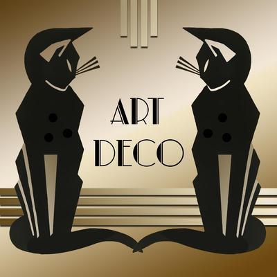 Art Deco Cats 1