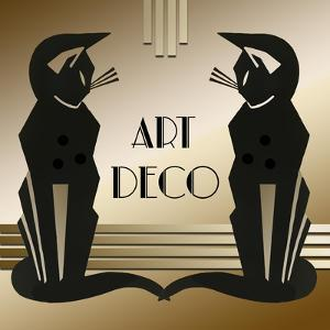 Art Deco Cats 1 by Art Deco Designs