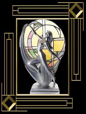 Art Deco Lamp Frame 3 by Art Deco Designs