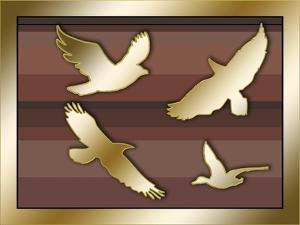 Birds In Flight by Art Deco Designs