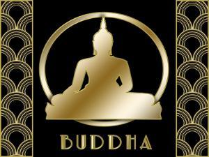 Buddha And Circle 1 by Art Deco Designs