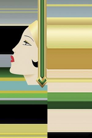 Flapper Abstract by Art Deco Designs
