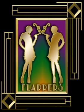 Flappers Frame 5 by Art Deco Designs