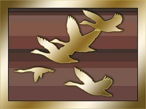 Geese in Flight by Art Deco Designs