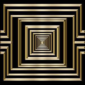 Gold Deco 7 by Art Deco Designs