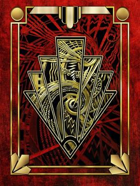 Red Chevron by Art Deco Designs