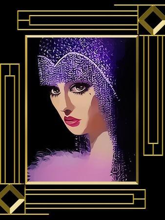 Woman In Purple Hat Frame 3