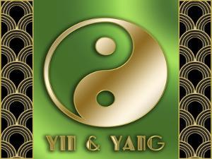 Yin And Yang Title by Art Deco Designs
