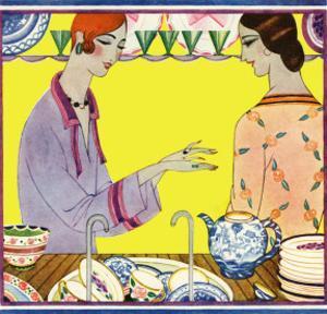 Art Deco Ladies Washing Up