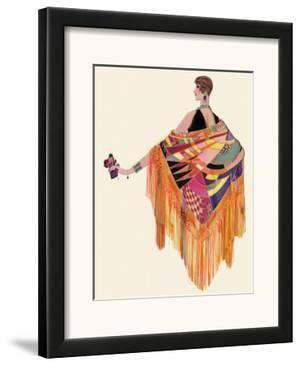 Art Deco Lady in a Colourful Dress