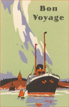 Art Deco Ocean Liner, Bon Voyage