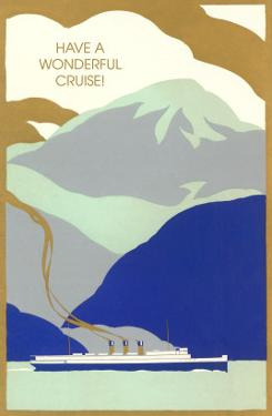 Art Deco Ocean Liner, Have a Wonderful Cruise