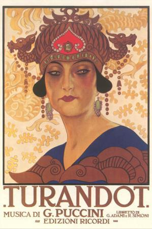 Art Deco Poster for Turandot