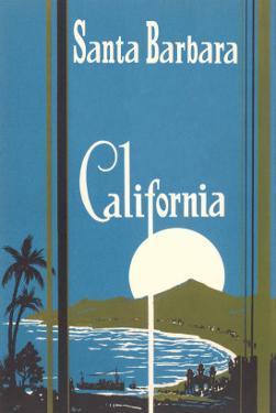 Art Deco Poster, Santa Barbara, California