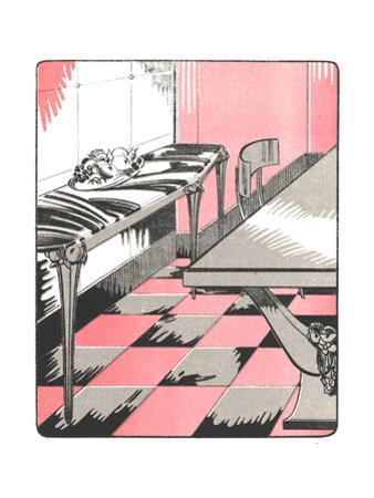 Art Deco-Style Dining Room Illustration