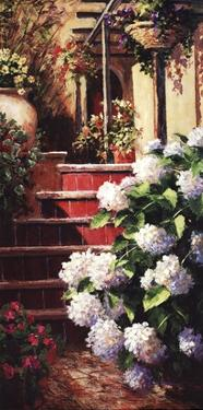 Hydrangea Steps Right by Art Fronckowiak