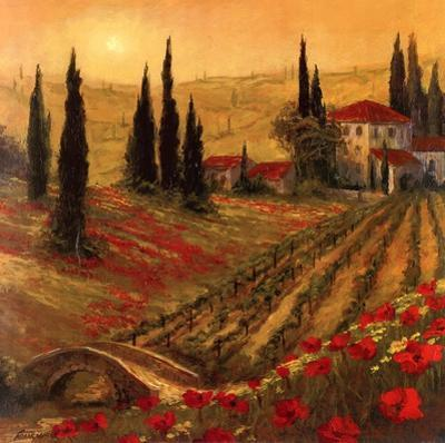 Poppies Of Toscano I by Art Fronckowiak