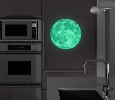 Art Glow in Dark Moon 30cm Diameter