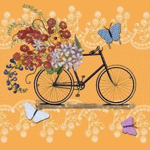 Flower Market Bicycle by Art Licensing Studio