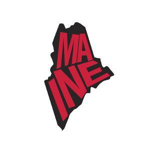 Maine by Art Licensing Studio