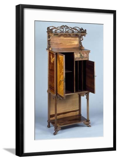 Art Nouveau Style Cabinet, Ca 1900-Emile Galle-Framed Giclee Print