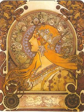 Art Nouveau Zodiac Woman