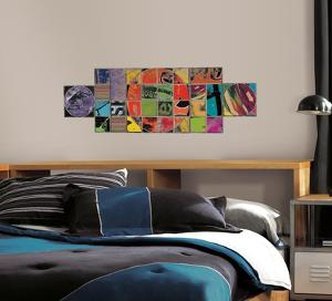 Art of Board Circle Inside Square Peel & Stick Giant Wall Decals