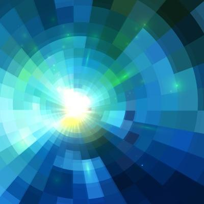 Abstract Blue Shining Tunnel Background by art_of_sun