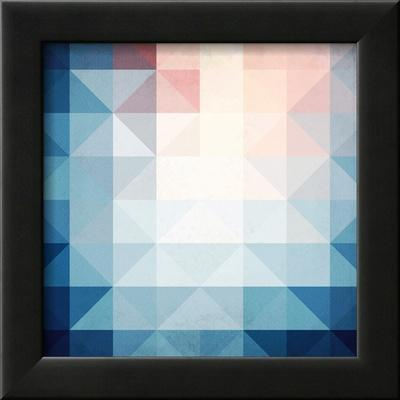Abstract Blue Triangles Geometry by art_of_sun