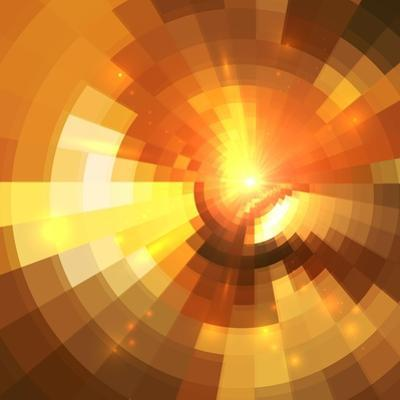 Abstract Orange Shining Circle Tunnel Background by art_of_sun