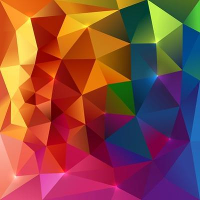 Abstract Triangles Colorful Background by art_of_sun