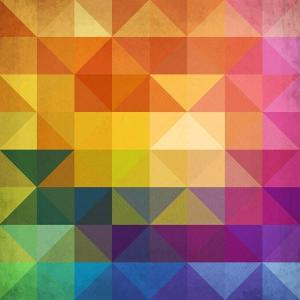 Abstract Vibrant Triangles by art_of_sun