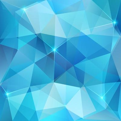 Blue Abstract Shining Ice Vector Background by art_of_sun