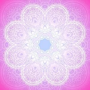 Indian Ornament, Mandala in Pink by art_of_sun