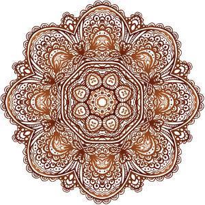 Ornate Ethnic Henna Colors Mandala by art_of_sun